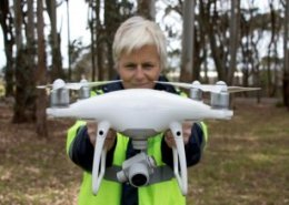 Louise Jupp explains benefits of commercial drone systems and drone surveying to farmers