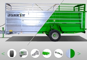 JOSKIN launches online configurator for the livestock trailers and meadow aerators